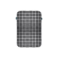Woven1 Black Marble & Silver Brushed Metal (r) Apple Ipad Mini Protective Soft Case
