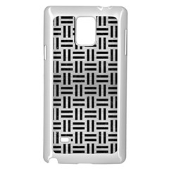 Woven1 Black Marble & Silver Brushed Metal (r) Samsung Galaxy Note 4 Case (white) by trendistuff