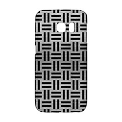 Woven1 Black Marble & Silver Brushed Metal (r) Samsung Galaxy S6 Edge Hardshell Case by trendistuff