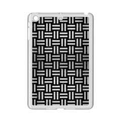 Woven1 Black Marble & Silver Brushed Metal Apple Ipad Mini 2 Case (white) by trendistuff