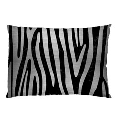 Skin4 Black Marble & Silver Brushed Metal (r) Pillow Case (two Sides) by trendistuff