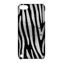Skin4 Black Marble & Silver Brushed Metal (r) Apple Ipod Touch 5 Hardshell Case With Stand by trendistuff