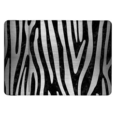 Skin4 Black Marble & Silver Brushed Metal (r) Samsung Galaxy Tab 8 9  P7300 Flip Case by trendistuff