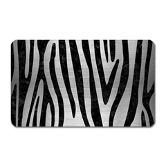 Skin4 Black Marble & Silver Brushed Metal Magnet (rectangular) by trendistuff