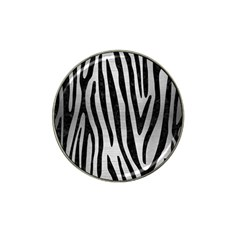 Skin4 Black Marble & Silver Brushed Metal Hat Clip Ball Marker (10 Pack) by trendistuff
