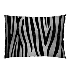 Skin4 Black Marble & Silver Brushed Metal Pillow Case by trendistuff