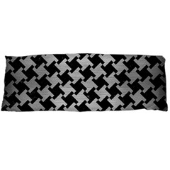 Houndstooth2 Black Marble & Silver Brushed Metal Body Pillow Case Dakimakura (two Sides) by trendistuff