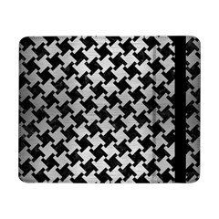 Houndstooth2 Black Marble & Silver Brushed Metal Samsung Galaxy Tab Pro 8 4  Flip Case by trendistuff