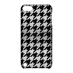 Houndstooth1 Black Marble & Silver Brushed Metal Apple Ipod Touch 5 Hardshell Case With Stand by trendistuff