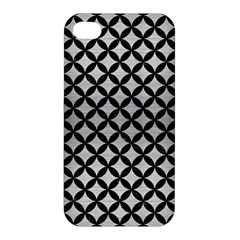 Circles3 Black Marble & Silver Brushed Metal (r) Apple Iphone 4/4s Hardshell Case by trendistuff