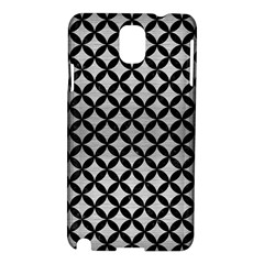 Circles3 Black Marble & Silver Brushed Metal (r) Samsung Galaxy Note 3 N9005 Hardshell Case by trendistuff