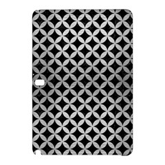 Circles3 Black Marble & Silver Brushed Metal Samsung Galaxy Tab Pro 12 2 Hardshell Case by trendistuff