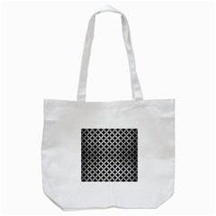 Circles3 Black Marble & Silver Brushed Metal Tote Bag (white) by trendistuff