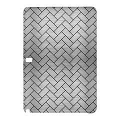 Brick2 Black Marble & Silver Brushed Metal (r) Samsung Galaxy Tab Pro 12 2 Hardshell Case by trendistuff