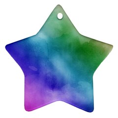 Rainbow Watercolor Ornament (star)  by StuffOrSomething