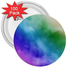 Rainbow Watercolor 3  Buttons (100 Pack)  by StuffOrSomething