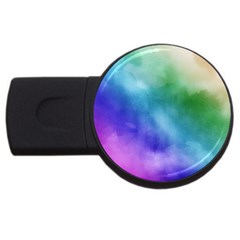 Rainbow Watercolor Usb Flash Drive Round (4 Gb)  by StuffOrSomething