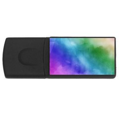 Rainbow Watercolor Usb Flash Drive Rectangular (4 Gb)  by StuffOrSomething