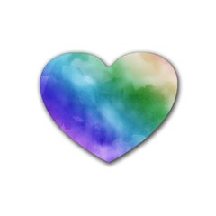 Rainbow Watercolor Heart Coaster (4 Pack)  by StuffOrSomething