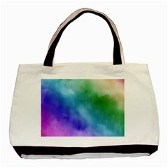 Rainbow Watercolor Basic Tote Bag (two Sides) by StuffOrSomething