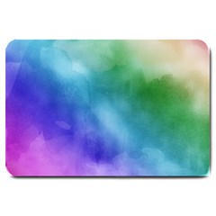 Rainbow Watercolor Large Doormat  by StuffOrSomething