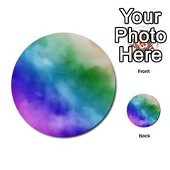 Rainbow Watercolor Multi Purpose Cards (round)  by StuffOrSomething
