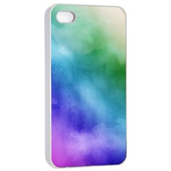 Rainbow Watercolor Apple Iphone 4/4s Seamless Case (white) by StuffOrSomething