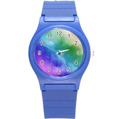 Rainbow Watercolor Round Plastic Sport Watch (s) by StuffOrSomething