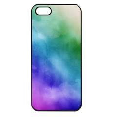 Rainbow Watercolor Apple Iphone 5 Seamless Case (black) by StuffOrSomething