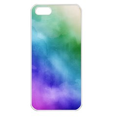 Rainbow Watercolor Apple Iphone 5 Seamless Case (white) by StuffOrSomething