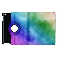 Rainbow Watercolor Apple Ipad 2 Flip 360 Case by StuffOrSomething