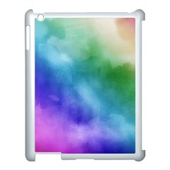 Rainbow Watercolor Apple Ipad 3/4 Case (white) by StuffOrSomething