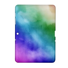 Rainbow Watercolor Samsung Galaxy Tab 2 (10 1 ) P5100 Hardshell Case  by StuffOrSomething