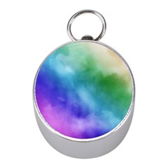 Rainbow Watercolor Mini Silver Compasses by StuffOrSomething