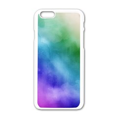 Rainbow Watercolor Apple Iphone 6/6s White Enamel Case by StuffOrSomething