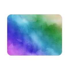 Rainbow Watercolor Double Sided Flano Blanket (mini)  by StuffOrSomething