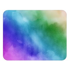 Rainbow Watercolor Double Sided Flano Blanket (large)  by StuffOrSomething