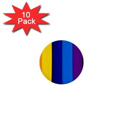 Rainbow Painting On Wood 1  Mini Buttons (10 Pack)  by StuffOrSomething