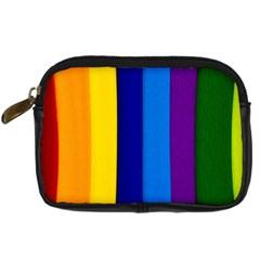 Rainbow Painting On Wood Digital Camera Cases by StuffOrSomething