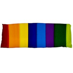 Rainbow Painting On Wood Body Pillow Case Dakimakura (two Sides) by StuffOrSomething
