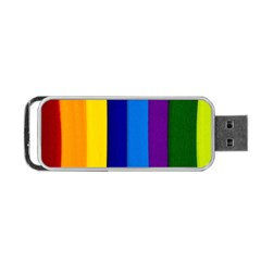 Rainbow Painting On Wood Portable Usb Flash (two Sides) by StuffOrSomething