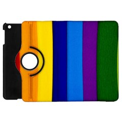 Rainbow Painting On Wood Apple Ipad Mini Flip 360 Case by StuffOrSomething