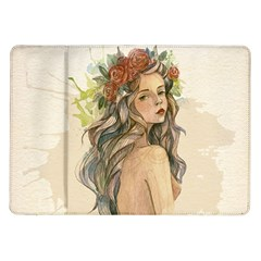 Beauty Of A Woman In Watercolor Style Samsung Galaxy Tab 10 1  P7500 Flip Case by TastefulDesigns