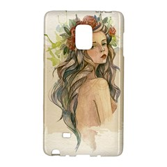 Beauty Of A Woman In Watercolor Style Galaxy Note Edge by TastefulDesigns