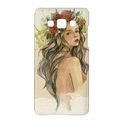 Beauty Of A Woman In Watercolor Style Samsung Galaxy A5 Hardshell Case  by TastefulDesigns