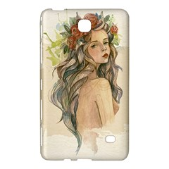 Beauty Of A Woman In Watercolor Style Samsung Galaxy Tab 4 (7 ) Hardshell Case  by TastefulDesigns