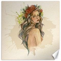 Beauty Of A Woman Canvas 12  X 12   by TastefulDesigns