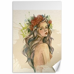 Beauty Of A Woman Canvas 12  X 18   by TastefulDesigns