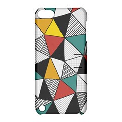 Colorful Geometric Triangles Pattern  Apple Ipod Touch 5 Hardshell Case With Stand by TastefulDesigns
