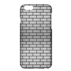 Brick1 Black Marble & Silver Brushed Metal (r) Apple Iphone 6 Plus/6s Plus Hardshell Case by trendistuff